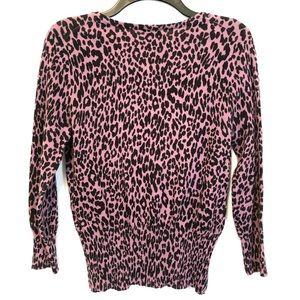 Dana Buchman Sweaters - Dana Buchman Purple Animal Print Cardigan (S)